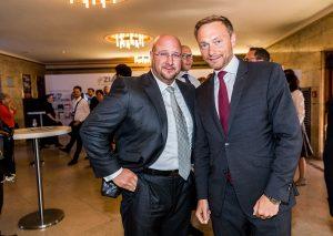 Andreas Schrobback mit dem FDP-Bundesvorsitzenden Christian Lindner